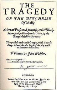 Bild av titelsida till Duchess of Malfi