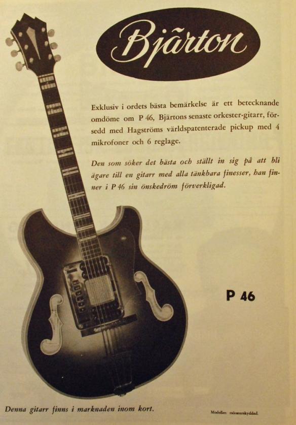 Annons för Bjärtons orkestergitarr ur Accordionjournalen nr 1, 1961