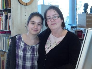 Bild på Laura och Kerstin