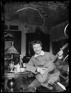 August Strindberg med gitarr i Gersau, Schweiz