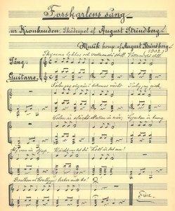 Forskarlens sång för röst och gitarr av August Strindberg
