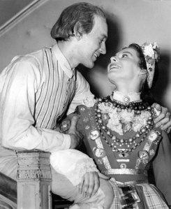 Kronbruden på Dramaten, 1944. Hans Strååt och Gerd Hagman