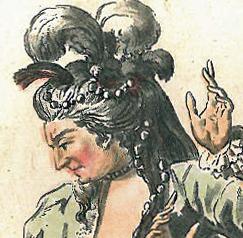 Detalj av Mlle Dumesnil som Iocaste