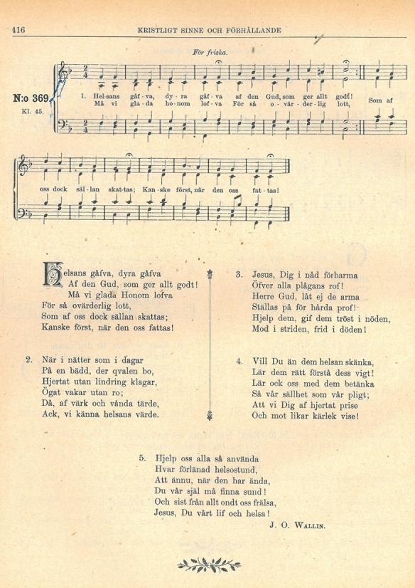 En av J.O. Wallins många psalmer.