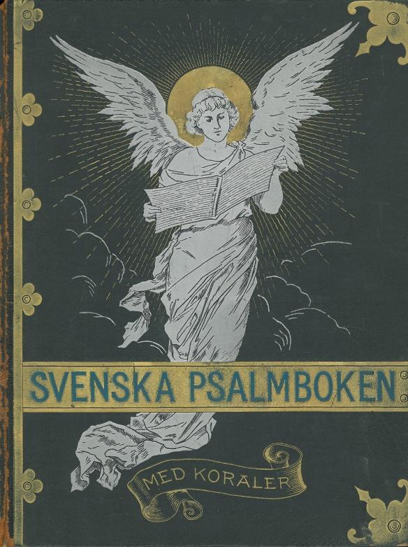 Svenska Psalmboken, första upplagans framsida